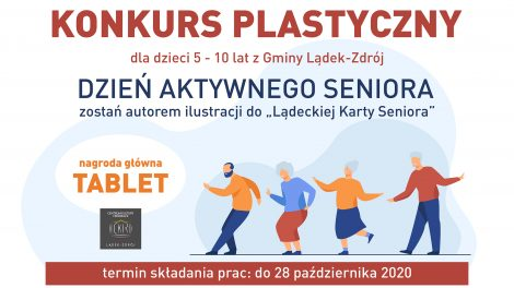 Plakat konkursu - Dzień aktywnego Seniora
